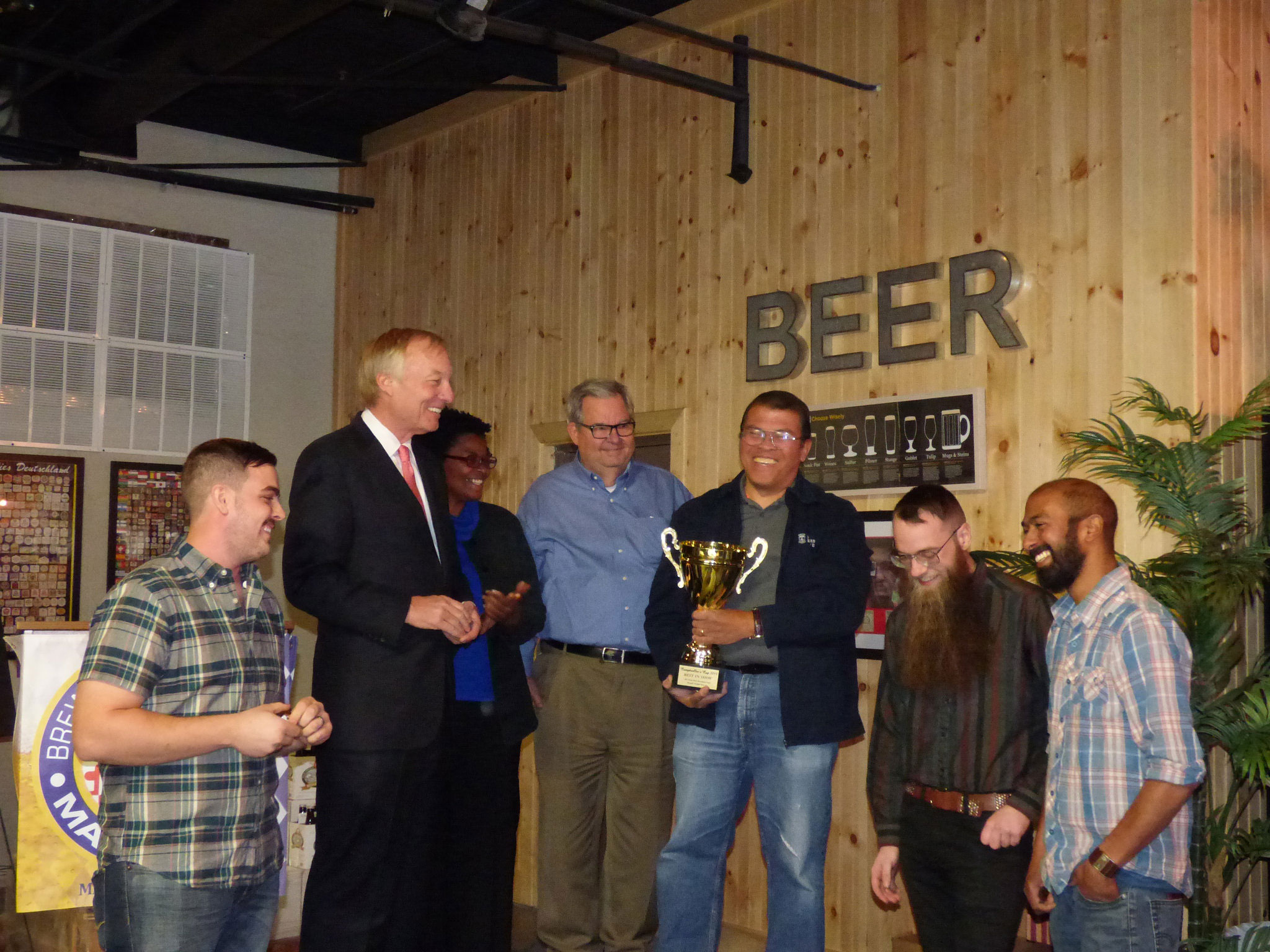 Franchot Presents Comptroller's Cup to Peabody Heights Brewery