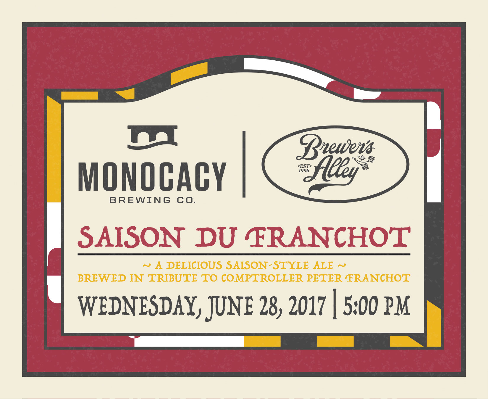 Barley & Hops and Monocacy Brewing Celebrate Comptroller Franchot with Beer Releases