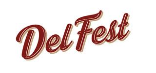 DelFest script logo
